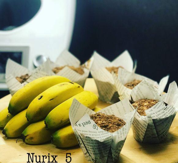 Muffins de platano Canario