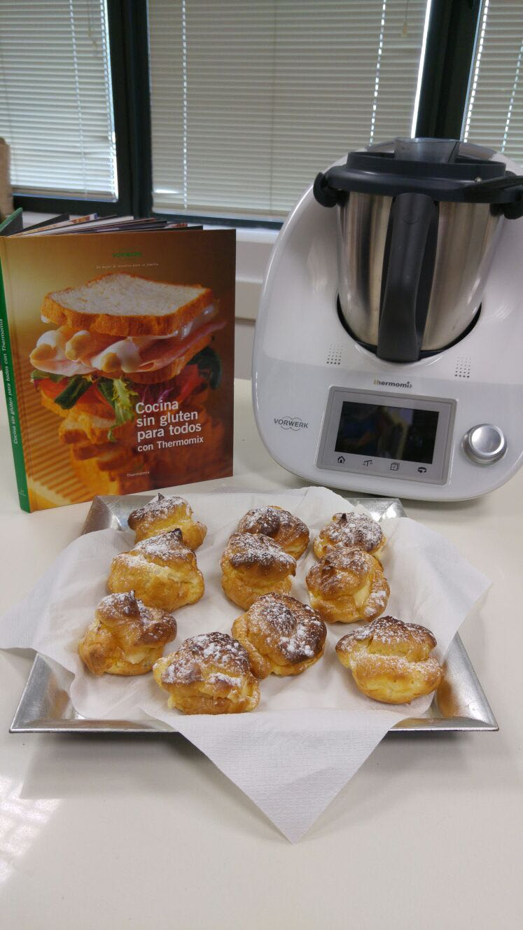 Buñuelos de crema sin gluten