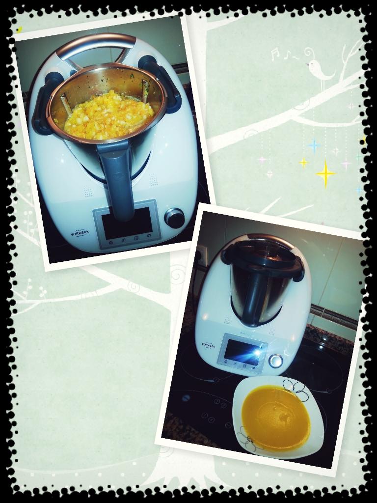 Pure de calabaza y zanahorias con Thermomix®