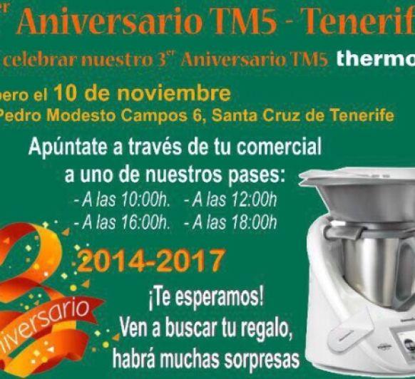 Celebra con nosotros el tercer aniversario del TM5