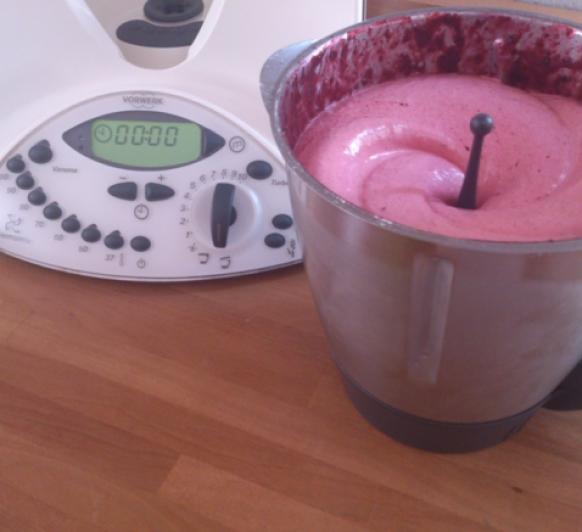 Espuma de frutas congeladas en Thermomix®