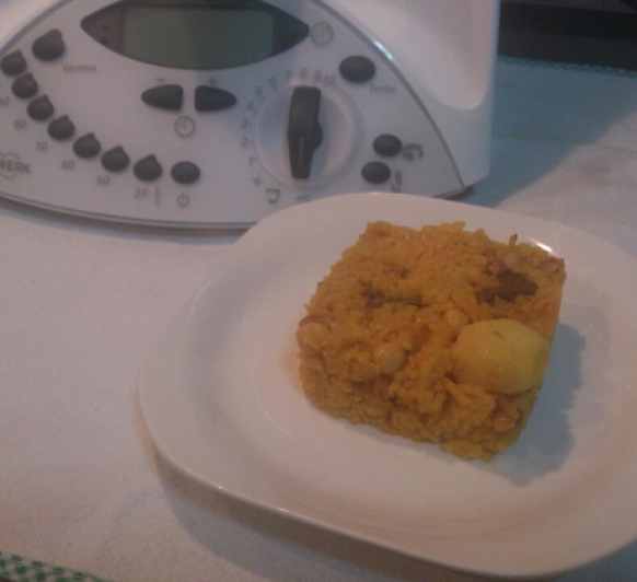 Hoy he hecho un arroz amarillo en Thermomix®