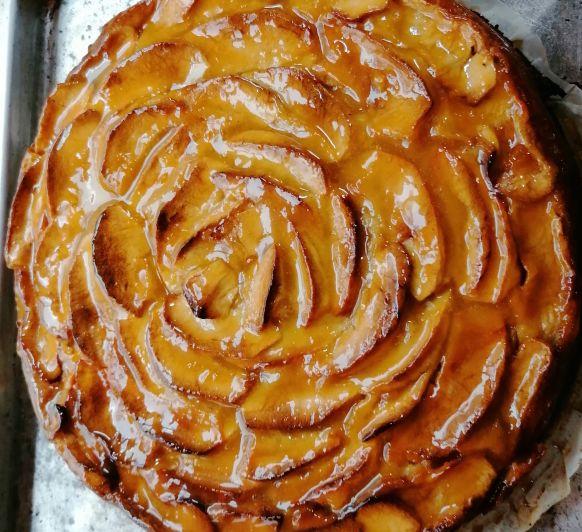 Tarta cremosa manzana