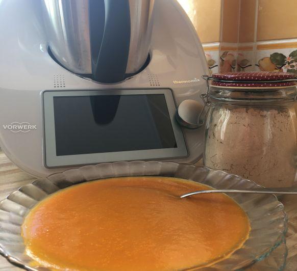 Puré de calabaza y zanahorias en cocción lenta con Thermomix®