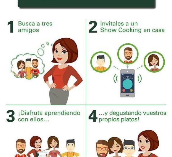 Anímate a hacer un show cooking