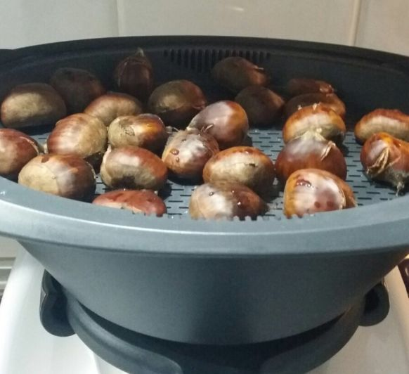 Como hacer castañas en el varoma con el Thermomix®